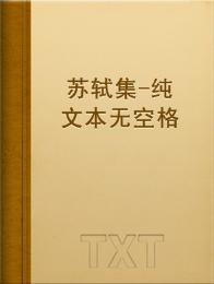 苏轼集-纯文本无空格版小说全本阅读